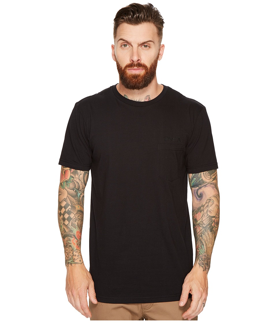 RVCA - RVCA Embroidered Tee (Black) Men's T Shirt