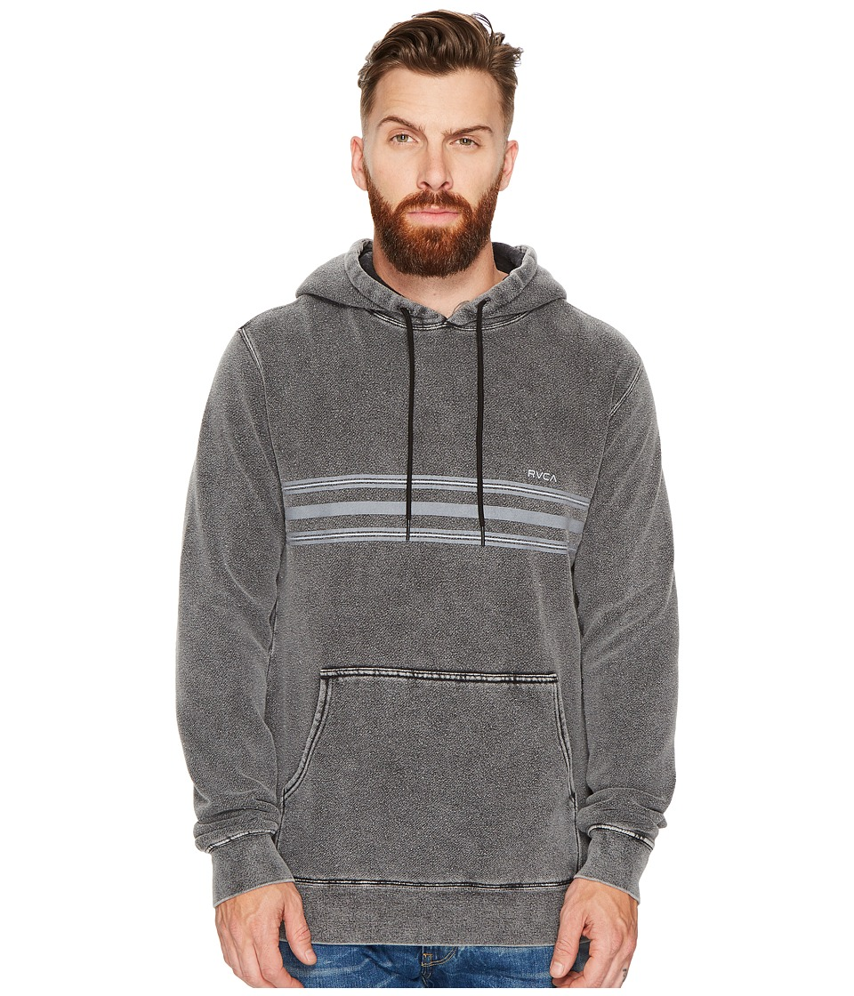 RVCA - Seven Stripe Fleece (Black) Men's Sweatshirt