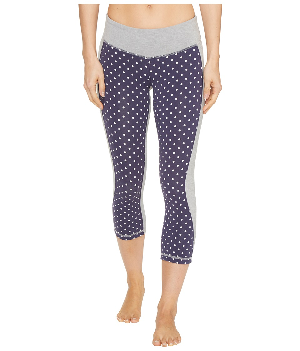 New Balance Fitted Print Capris (Navy) Women