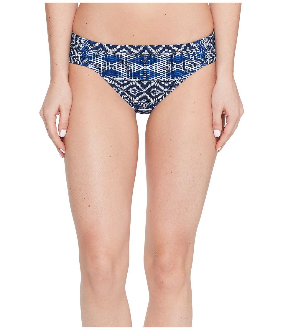 La Blanca Designer Jeans Side Shirred Hipster Bottom (Indigo) Women