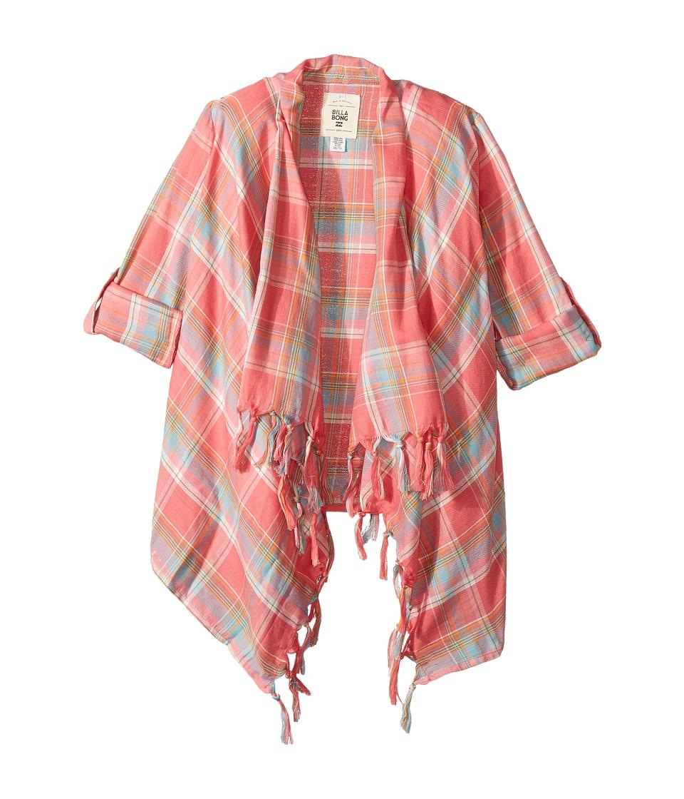 Billabong Kids - Scenester Cardigan (Little Kids/Big Kids) (Paradise Pink) Girl's Sweater