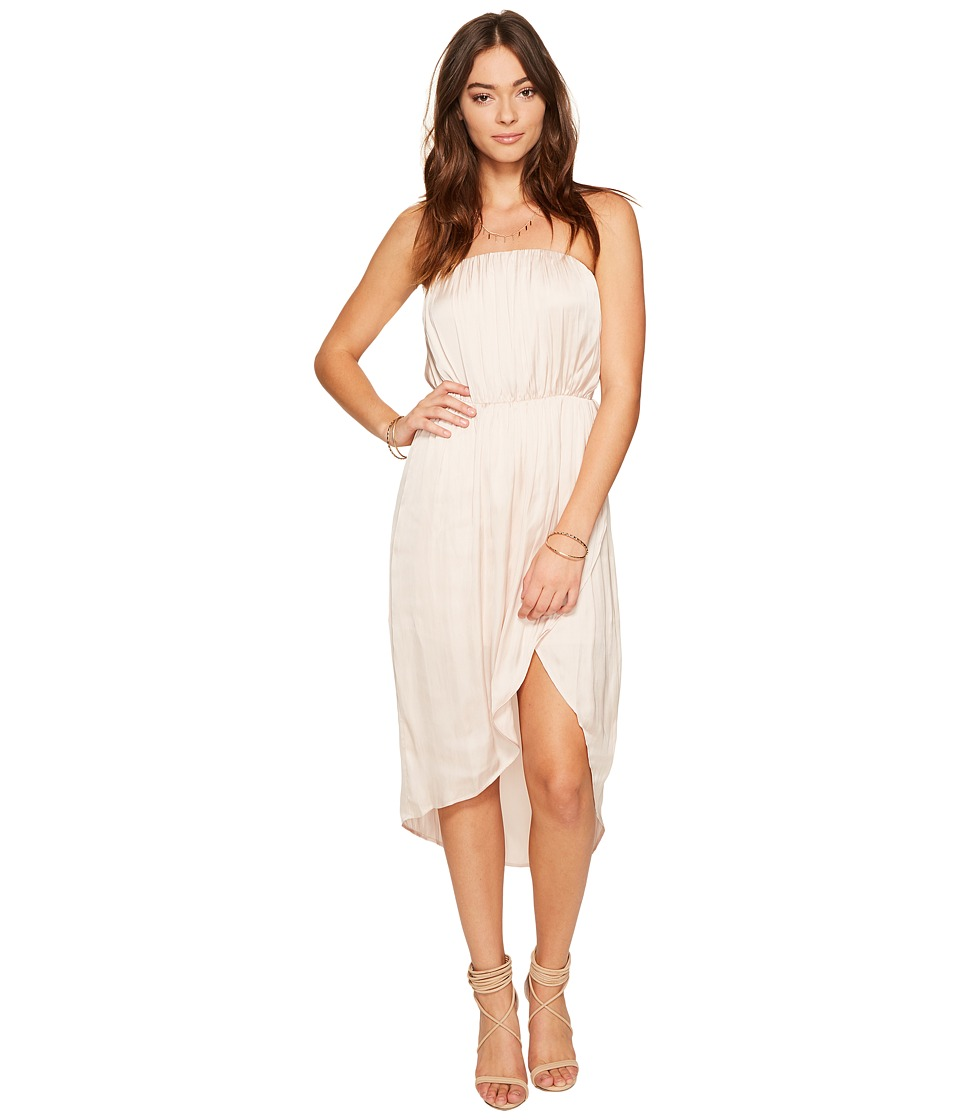 Lovers + Friends Night Lights Midi Champagne Dress