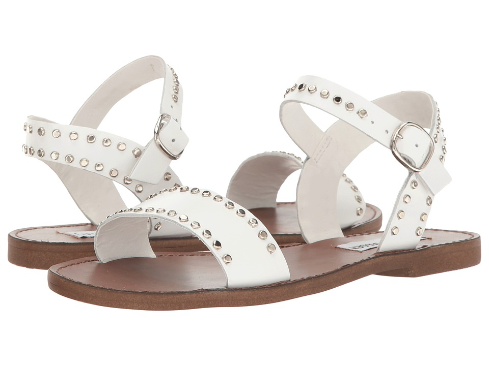 Steve Madden Donddi-S (White Leather) Women