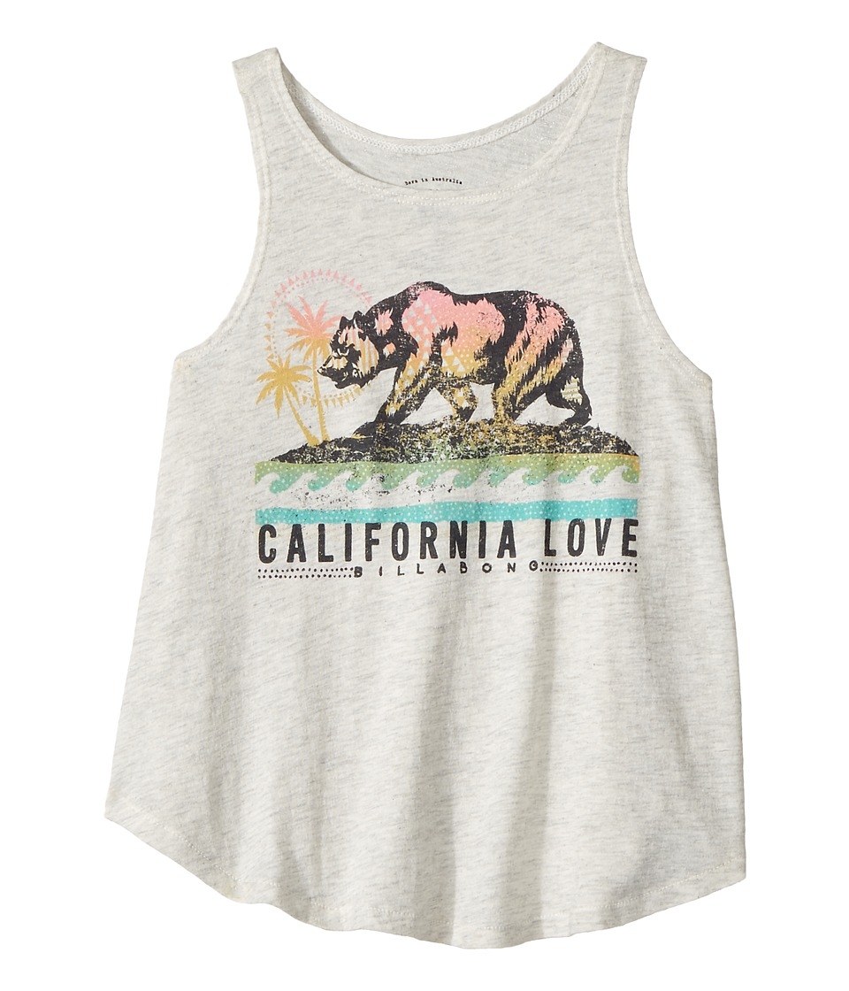Billabong Kids - Cali Bear Love Tank Top (Little Kids/Big Kids) (Ice Athletic Grey) Girl's Sleeveless