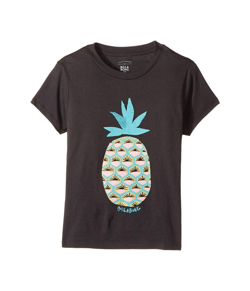 Billabong Kids - Fresh Pineapple Tee (Little Kids/Big Kids) (Off-Black) Girl's T Shirt