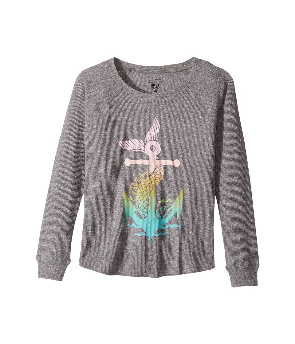 Billabong Kids - Anchored to the Sea Thermal (Little Kids/Big Kids) (Dark Athletic Grey) Girl's Clothing