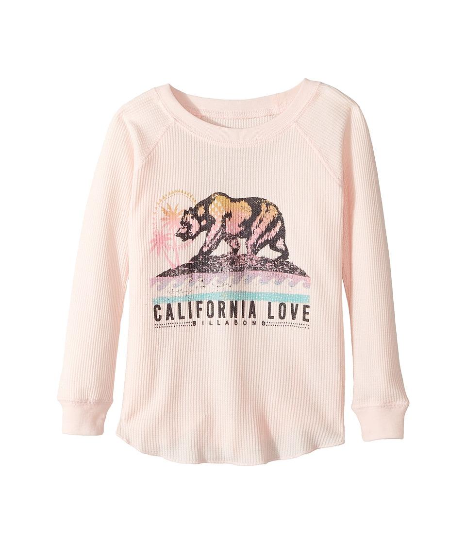 Billabong Kids - Cali Bear Love Thermal (Little Kids/Big Kids) (Shell Pink) Girl's Clothing