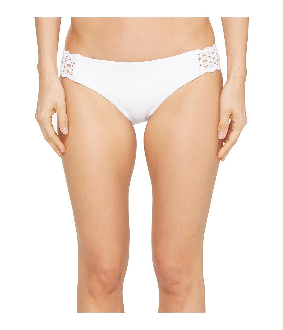 BECCA by Rebecca Virtue - Siren Side Tab Bottom (White) Women's Swimwear