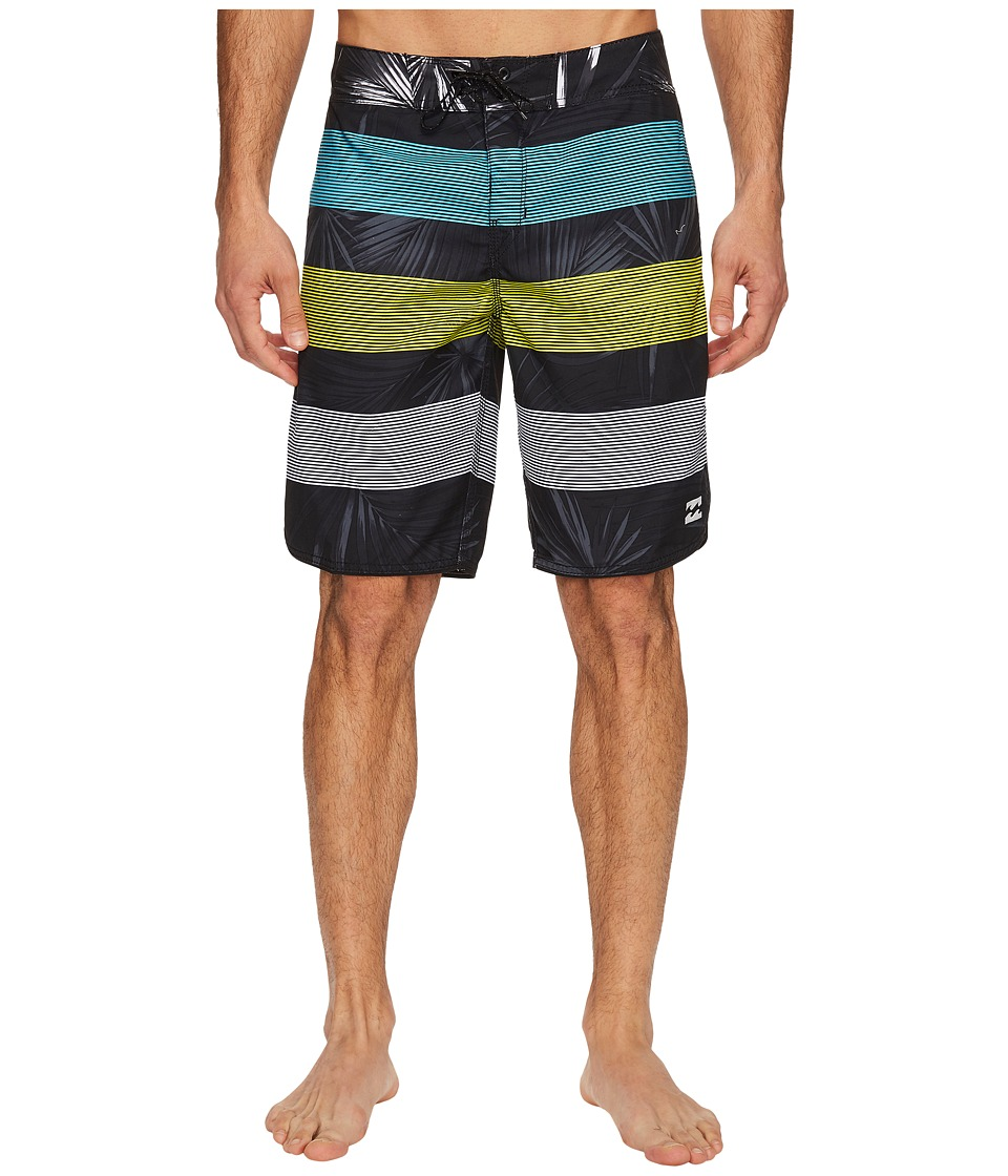 Billabong - 73 OG Stripe Boardshorts (Black) Men's Swimwear