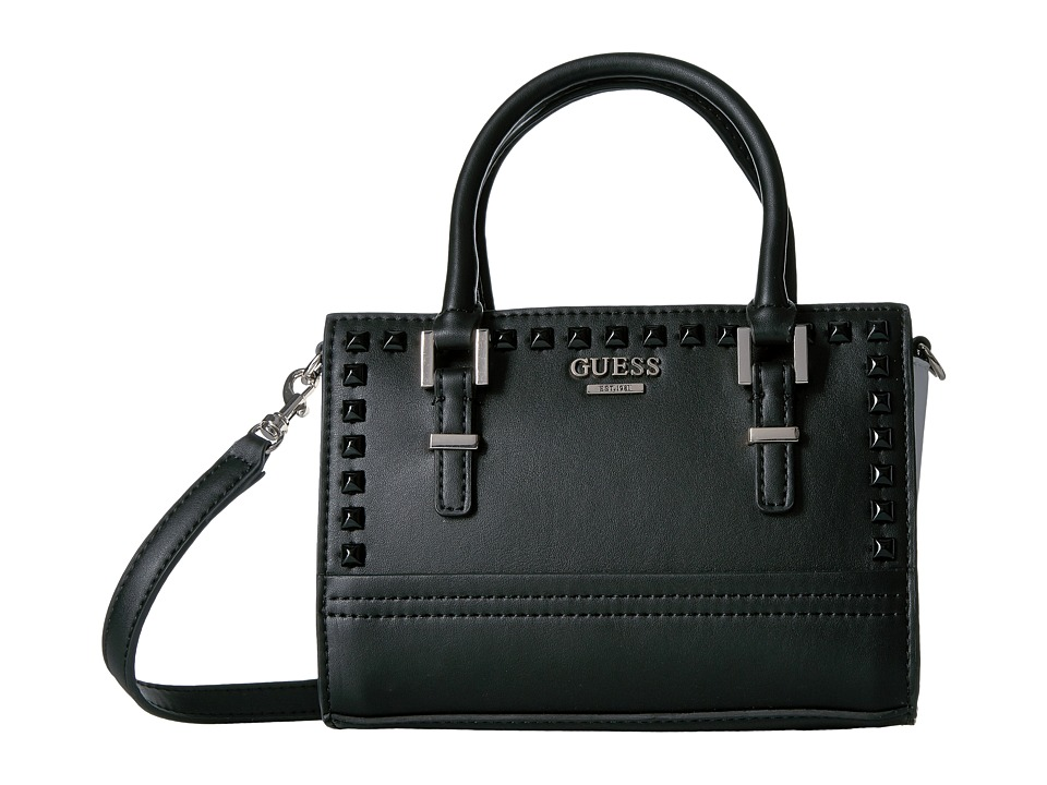 GUESS - Devyn Petite Satchel (Black Multi) Satchel Handbags