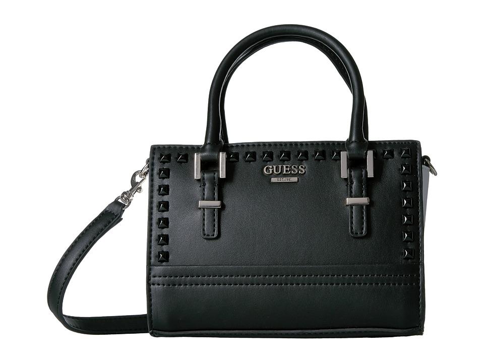 GUESS - Devyn Petite Satchel (Black Multi) Satchel Handbags