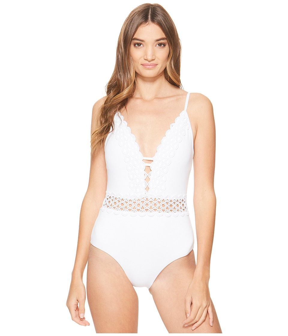 BECCA by Rebecca Virtue - Siren One-Piece (White) Women's Swimsuits One Piece