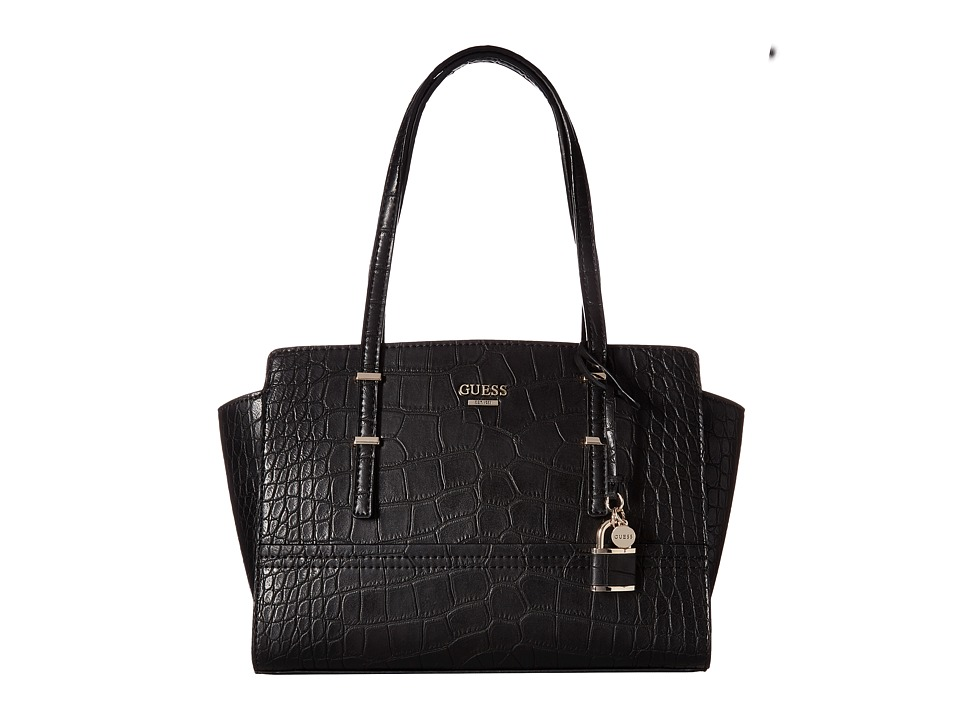 GUESS - Devyn Satchel (Black) Satchel Handbags