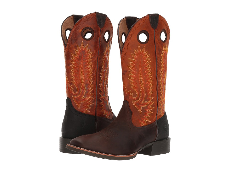 Ariat Heritage High Plains (Bad Brown/Dusty Orange) Cowboy Boots