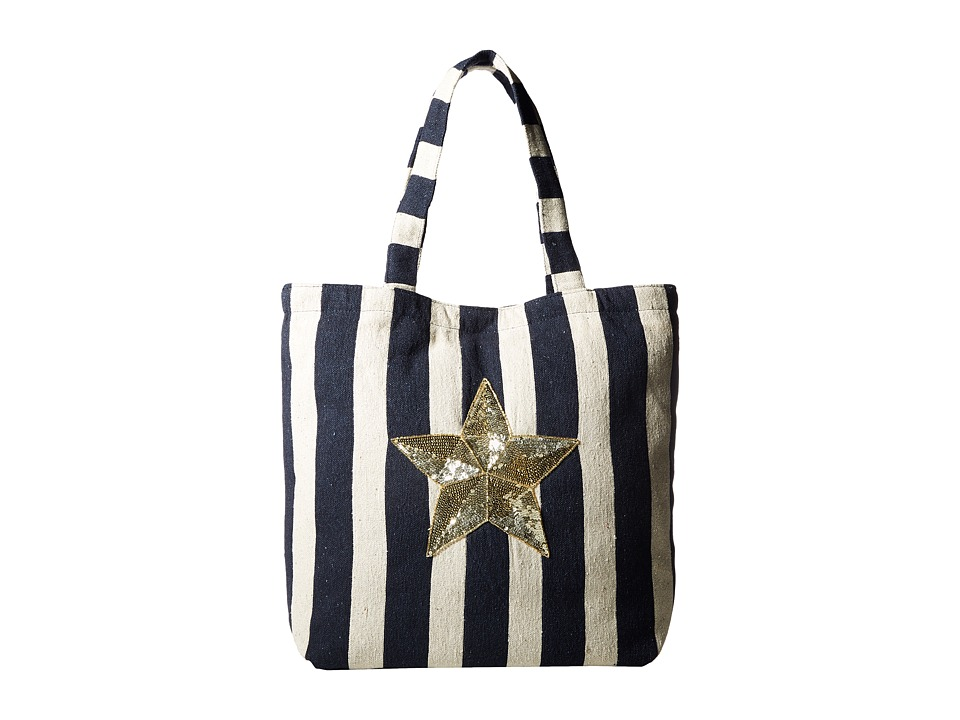 Circus by Sam Edelman - Cooper Self Handle Bag (Blue Natural/Star) Handbags