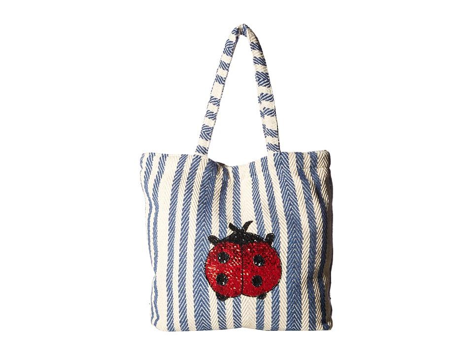 Circus by Sam Edelman - Cooper Self Handle Bag (Black Natural/Ladybug) Handbags