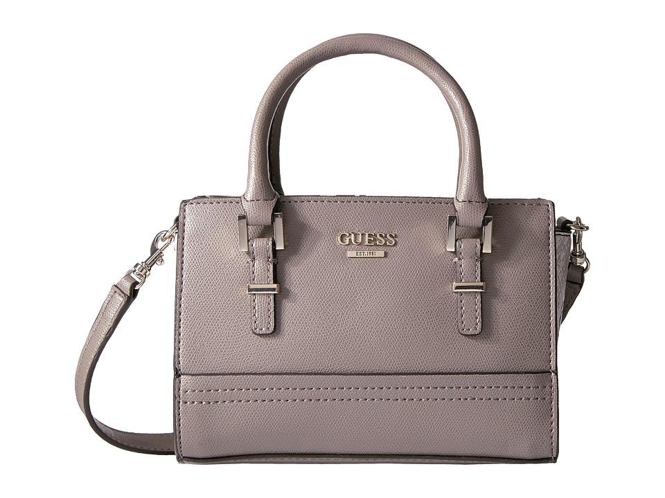 GUESS - Devyn Petite Satchel (Taupe Multi) Satchel Handbags