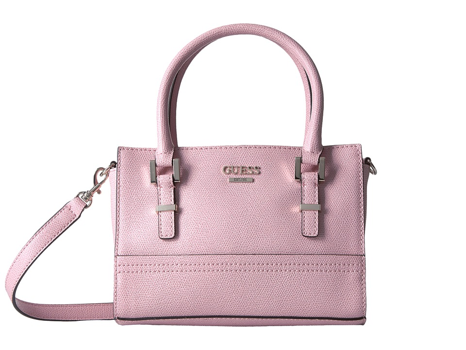 GUESS - Devyn Petite Satchel (Bubblegum) Satchel Handbags