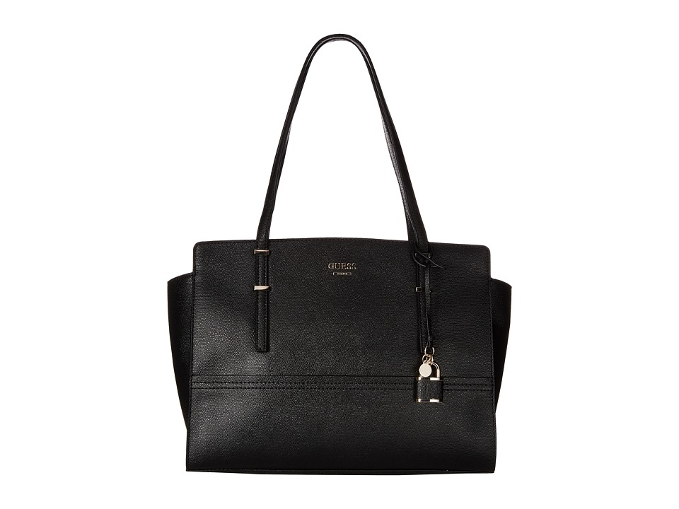 GUESS - Devyn Large Satchel (Black) Satchel Handbags