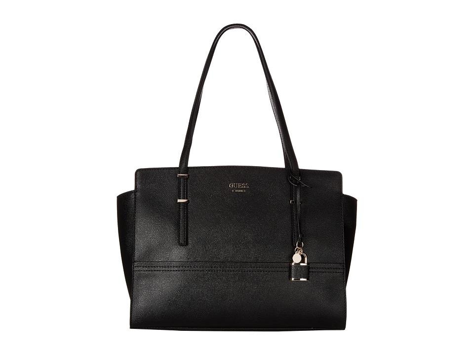 GUESS - Devyn Large Satchel (Black) Satchel Handbags