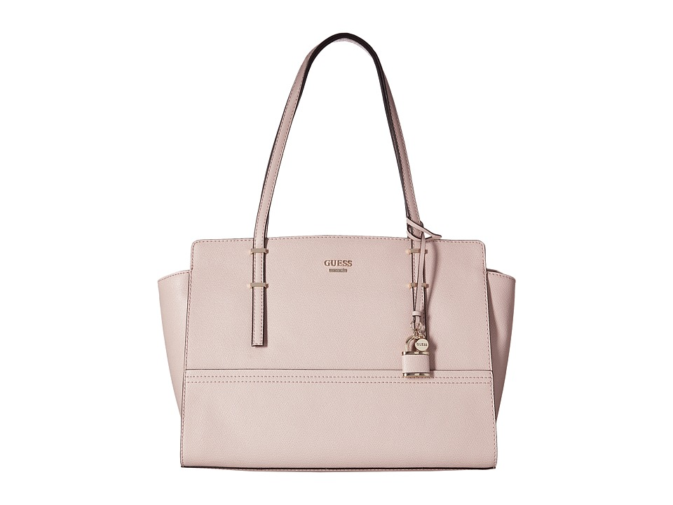 GUESS - Devyn Large Satchel (Blush) Satchel Handbags