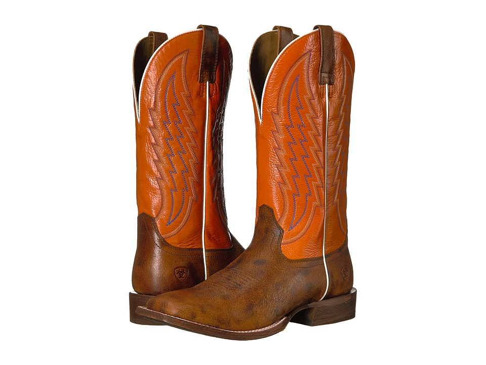 Ariat Circuit Stride (Toasted Tan/Firecracker) Cowboy Boots