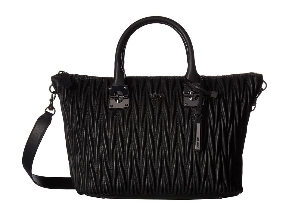 GUESS - Keegan Satchel (Black) Satchel Handbags