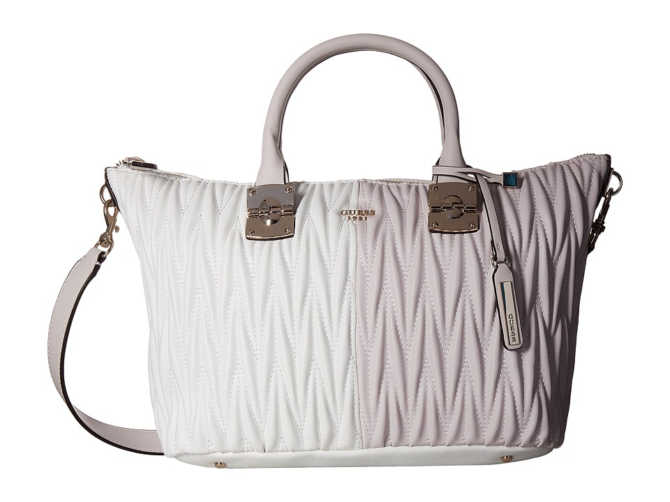 GUESS - Keegan Satchel (Powder Multi) Satchel Handbags