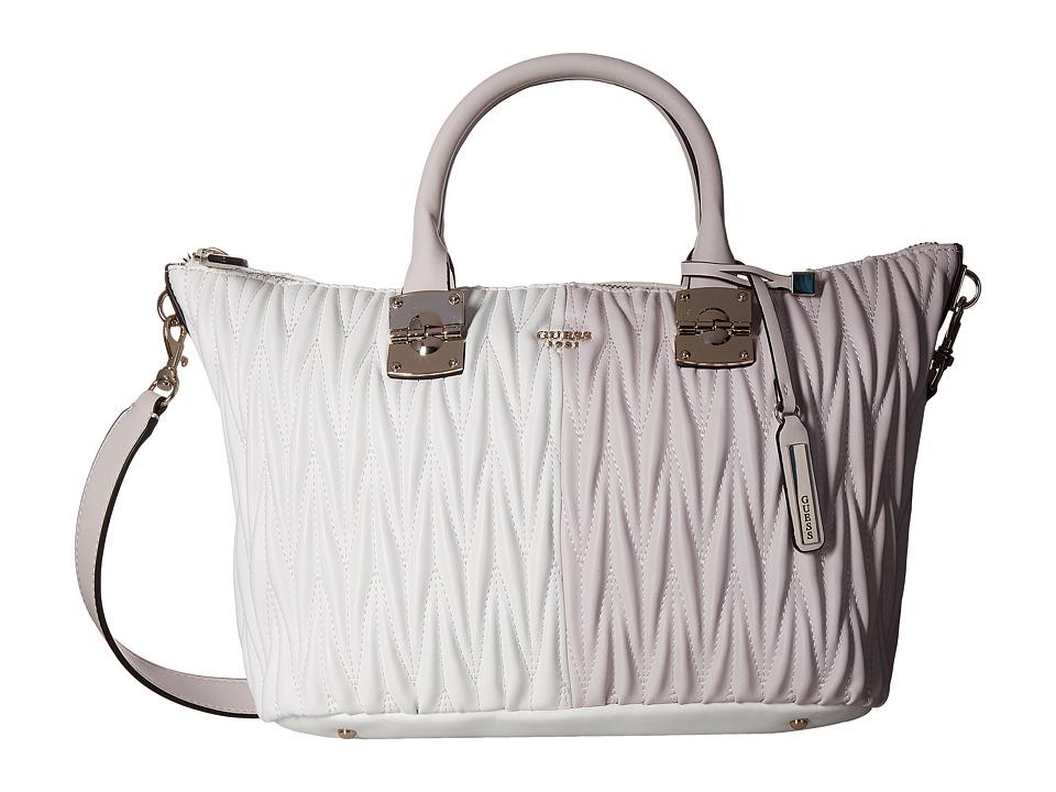 GUESS - Keegan Satchel (Powder Multi) Satchel Handbags