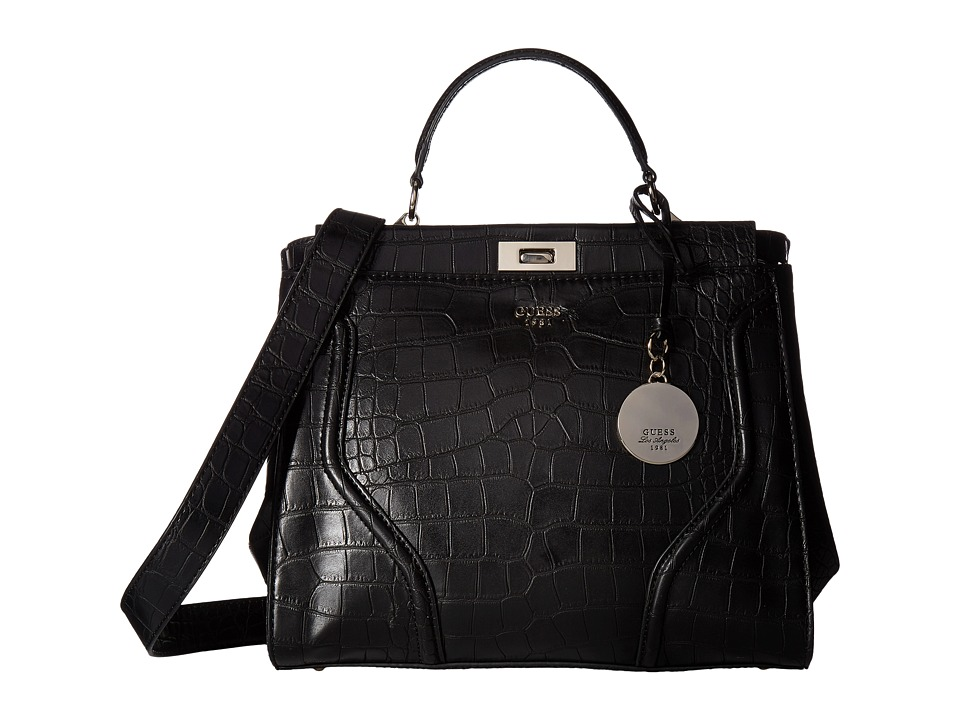 GUESS - Georgie Satchel (Black) Satchel Handbags