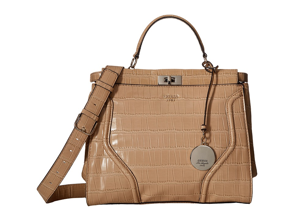 GUESS - Georgie Satchel (Nut) Satchel Handbags