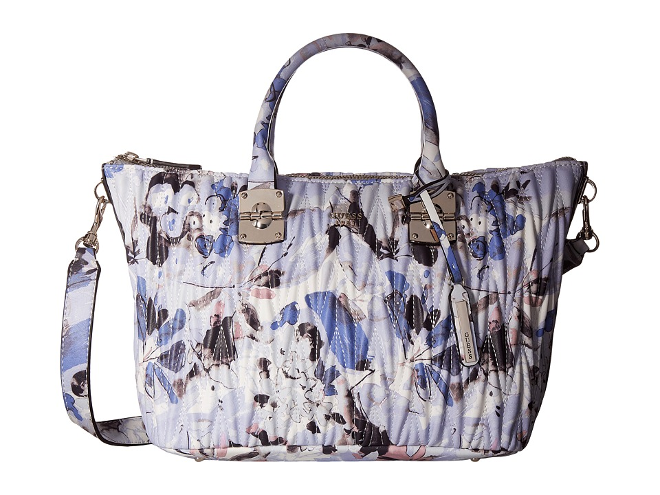 GUESS - Keegan Satchel (Blue Floral) Satchel Handbags