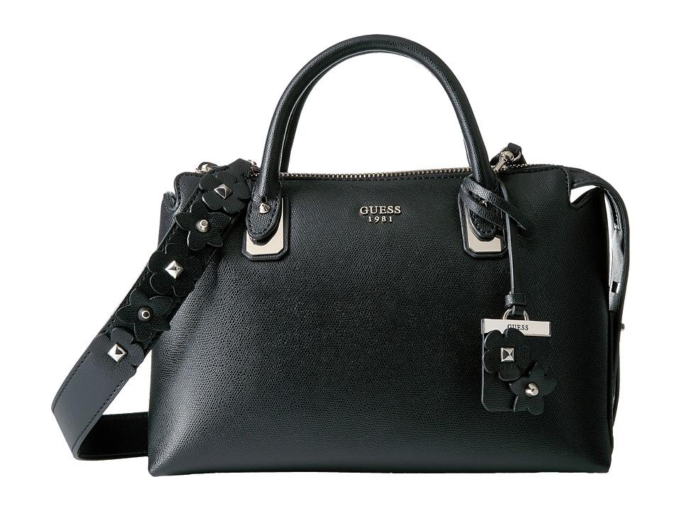 GUESS - Liya Satchel (Black) Satchel Handbags