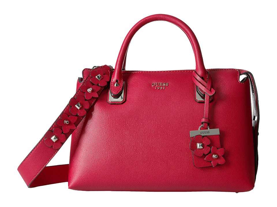 GUESS - Liya Satchel (Red) Satchel Handbags