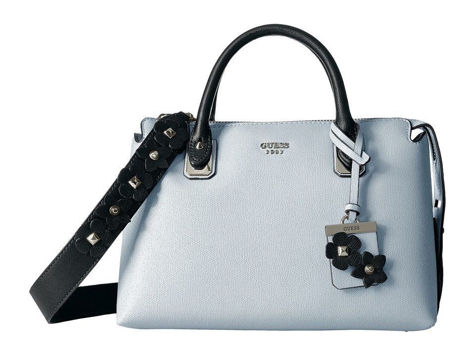 GUESS - Liya Satchel (White Multi) Satchel Handbags