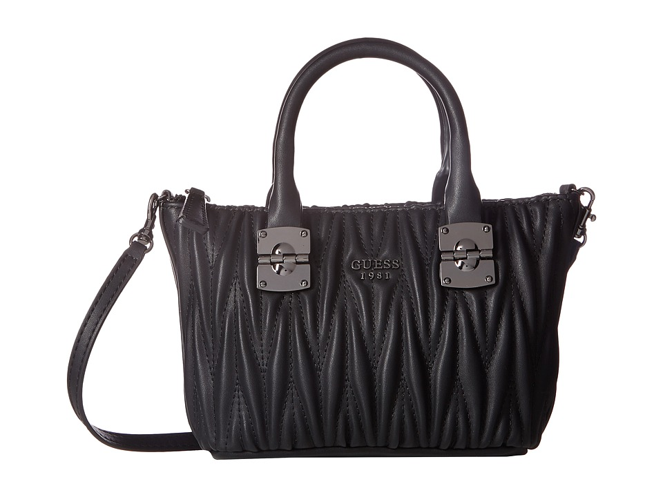 GUESS - Keegan Petite Satchel (Black) Satchel Handbags