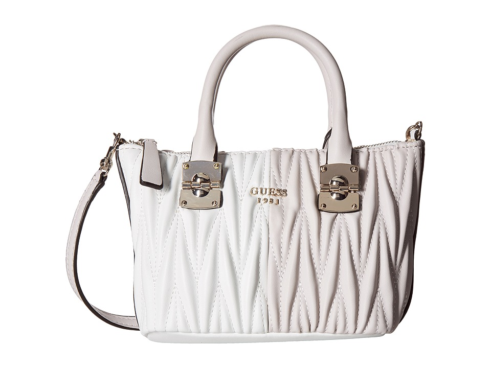 GUESS - Keegan Petite Satchel (Powder Multi) Satchel Handbags