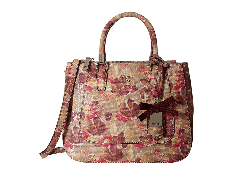 GUESS - Marian Status Satchel (Floral Multi) Satchel Handbags
