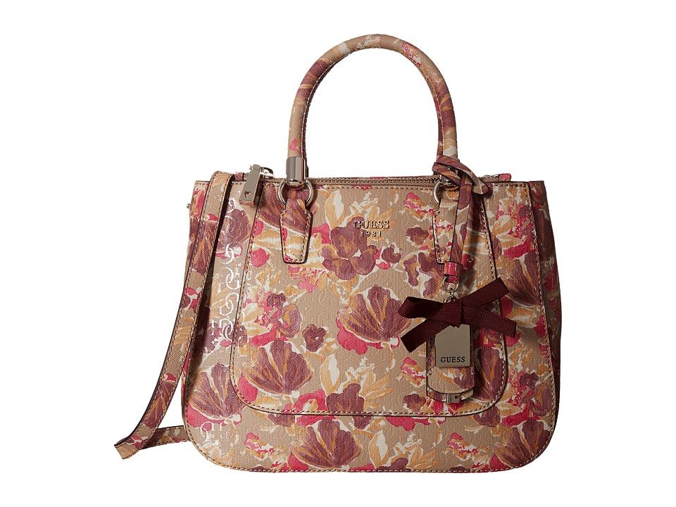 GUESS - Marian Status Satchel (Floral Multi) Satchel Handbags