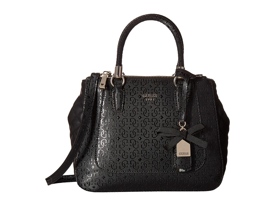 GUESS - Marian Status Satchel (Black) Satchel Handbags