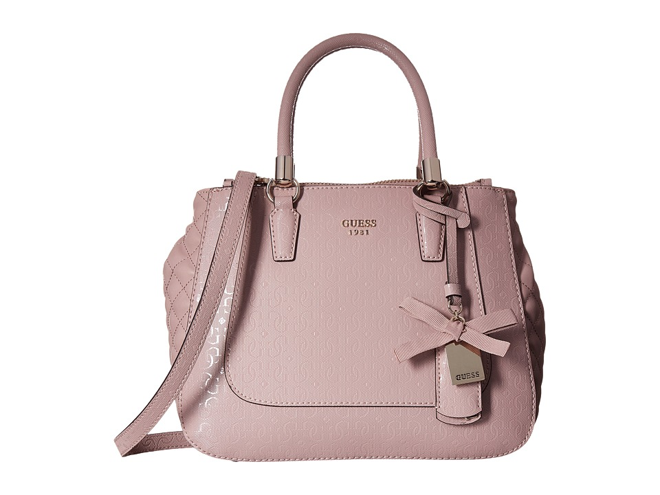 GUESS - Marian Status Satchel (Blush) Satchel Handbags