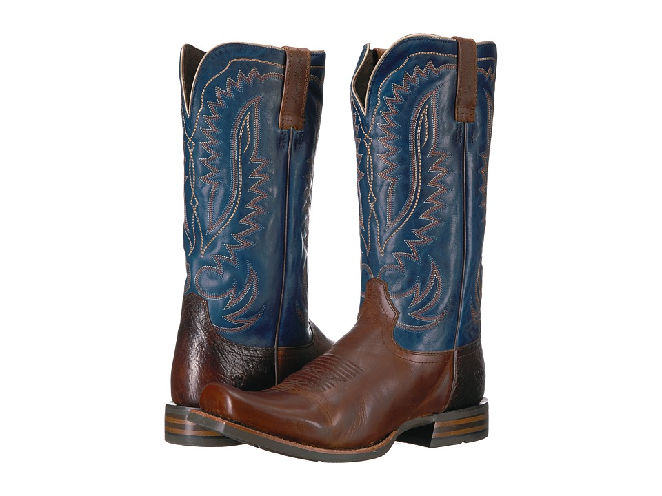 Ariat Palo Duro (Barn Room Brown/Bayou Blue) Cowboy Boots