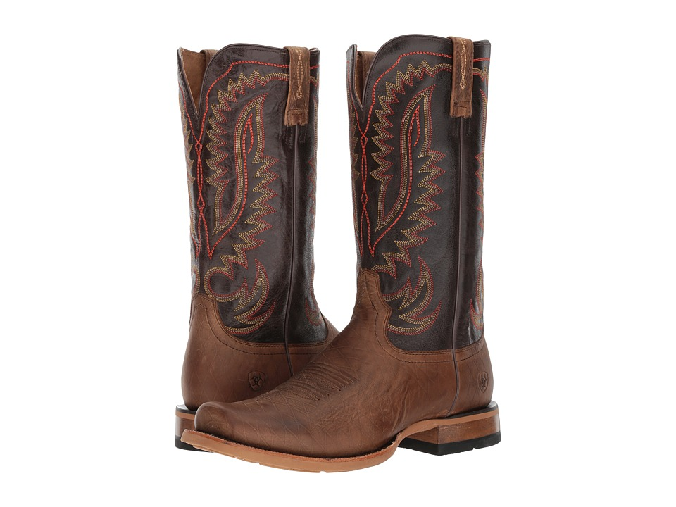 Ariat Palo Duro (Smoky Cattleguard/Washboard Brown) Cowboy Boots