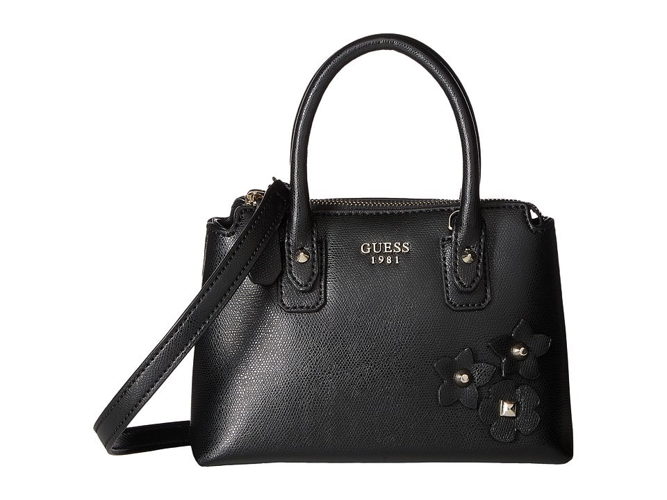 GUESS - Liya Petite Satchel (Black) Satchel Handbags