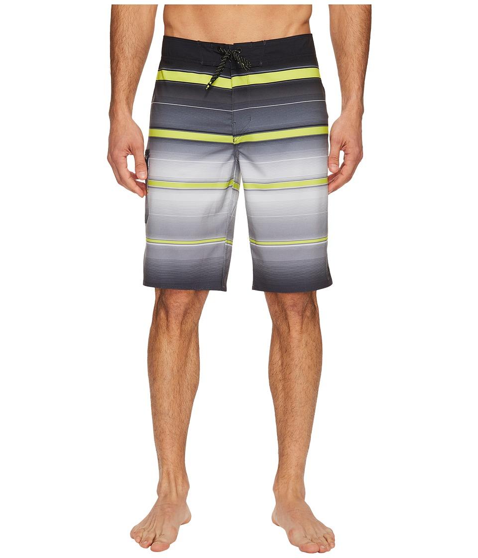 Billabong - All Day X Stripe Boardshorts (Charcoal) Men's Swimwear