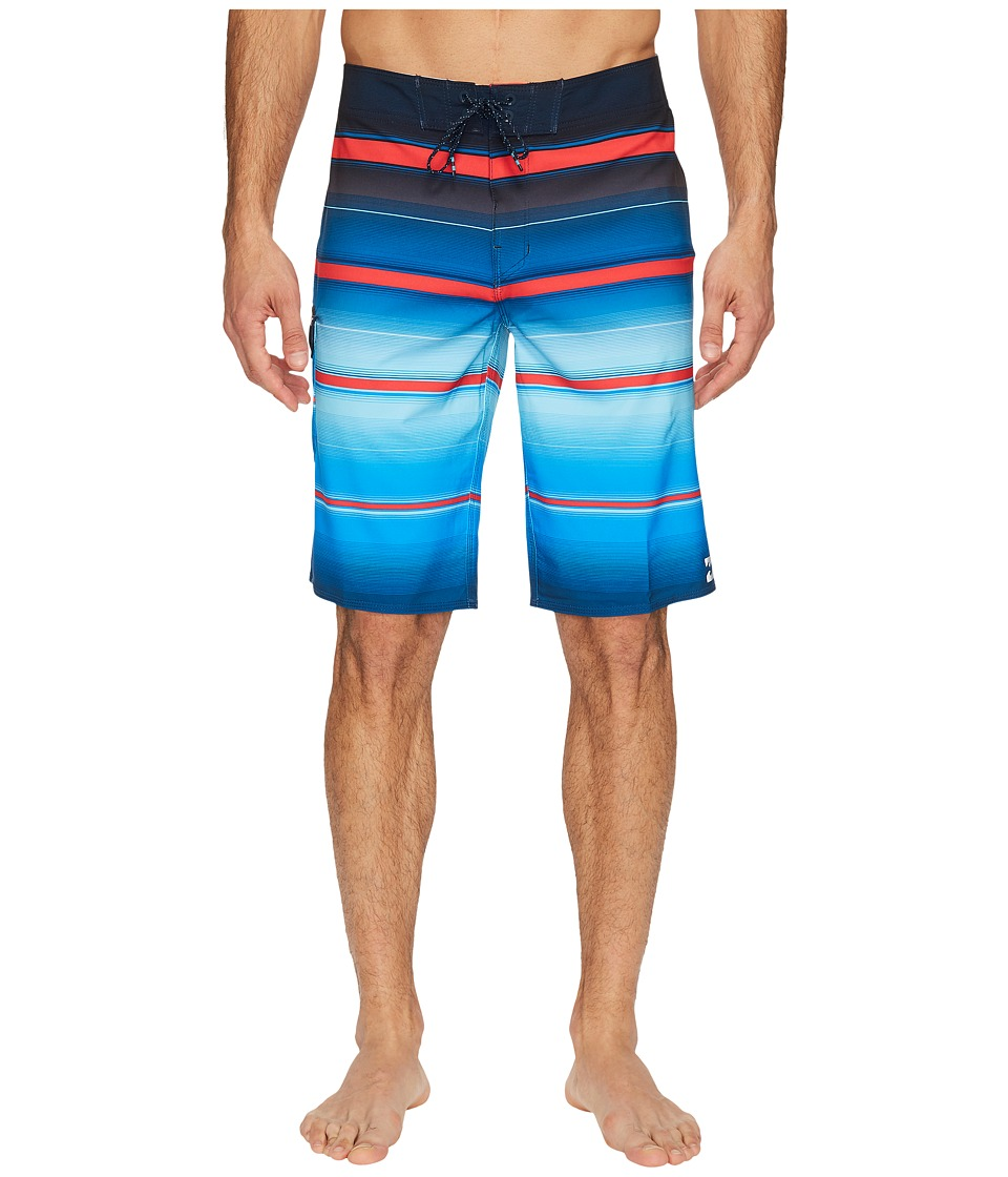Billabong - All Day X Stripe Boardshorts (Royal) Men's Swimwear