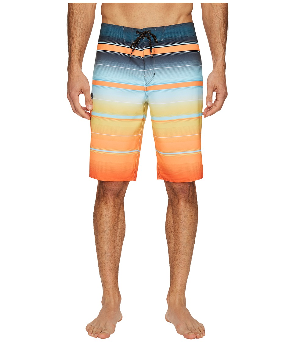 Billabong - All Day X Stripe Boardshorts (Tang) Men's Swimwear