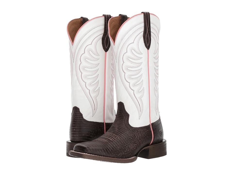 Ariat Circuit Shiloh (Chocolate Lizard Print/Avalanche) Cowboy Boots