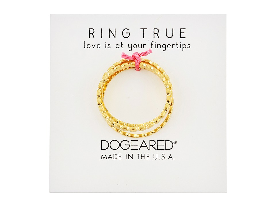 Dogeared - The Circle Thin Multi Circle Rings Set of 3 (Gold Dipped) Ring