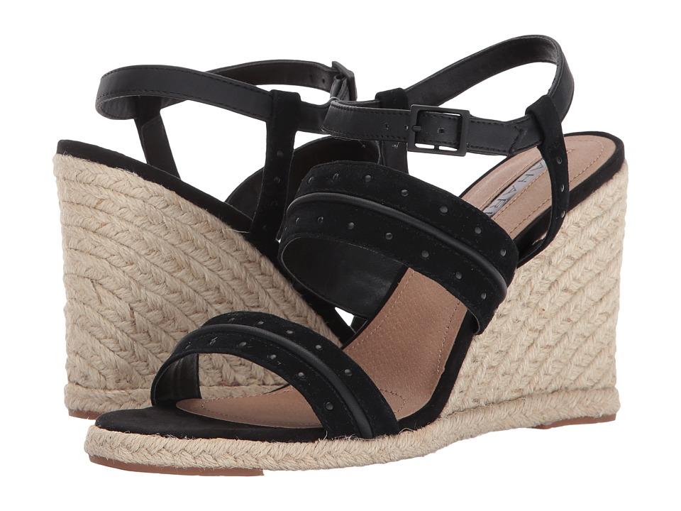Tahari - Wyatt (Black Suede) Women's Wedge Shoes